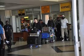 Travellers At Entebbe Airport